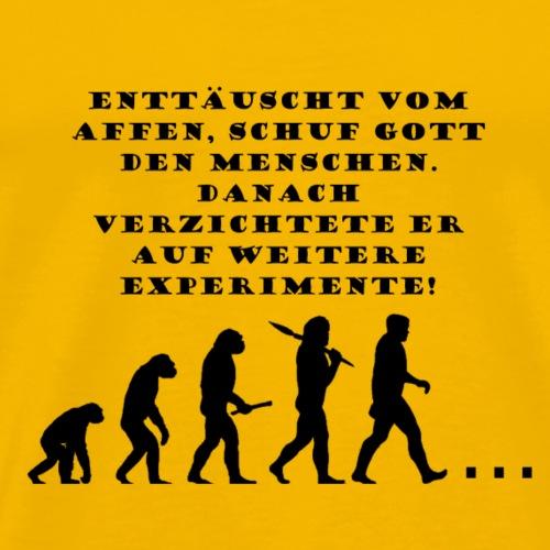 Affe Mensch Nix - Männer Premium T-Shirt