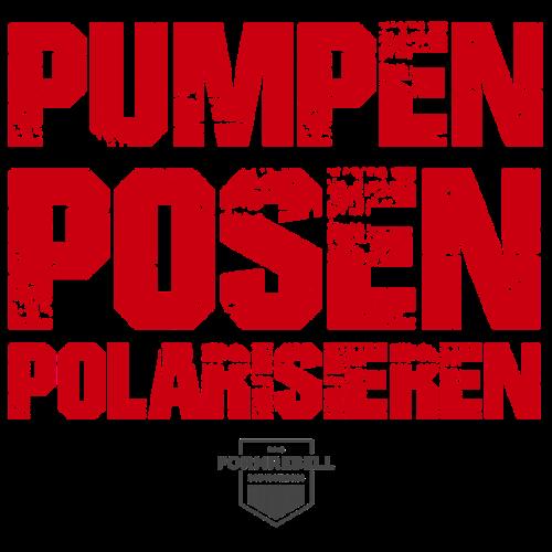 PUMPEN POSEN POLARISIEREN (rot/anthrazit) - Männer Premium T-Shirt