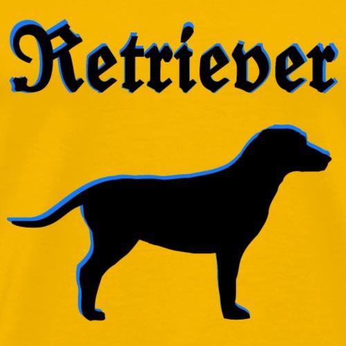 Labrador,Retriever,Golden Retriever,Hundekopf,hund - Männer Premium T-Shirt