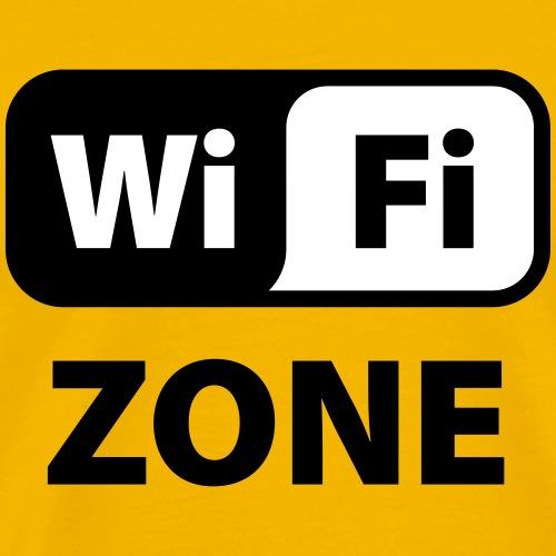 WiFi ZONE - Mannen Premium T-shirt