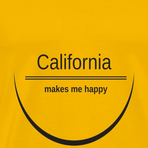 California makes me happy - Männer Premium T-Shirt
