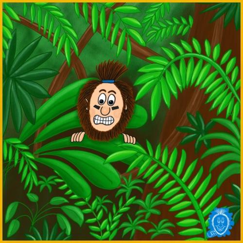 Uffi im Dschungel - Männer Premium T-Shirt