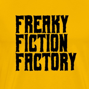 Freaky Fiction Factory Offical Logo Svart - Premium T-skjorte for menn