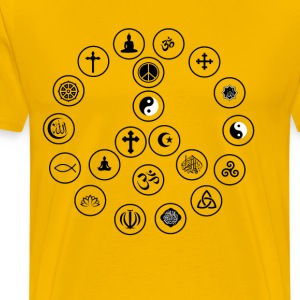 Peace and Religion - Mannen Premium T-shirt