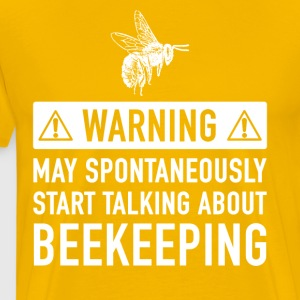 Funny Beekeeper Gift Ideas For Father Of Grandfather - Men's Premium T-Shirt