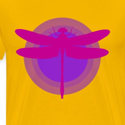 Pink Purple Dragonfly - Mannen Premium T-shirt
