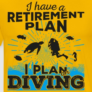 Retirement plan diving (dark) - Men's Premium T-Shirt