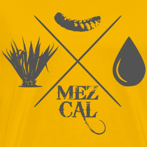 mezcal with worm - Männer Premium T-Shirt