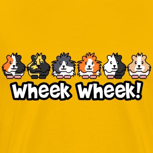 Wheek Wheek Meerschweinchen - Männer Premium T-Shirt