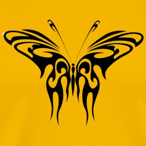 Tribal Tattoo butterfly gaveide - Premium T-skjorte for menn