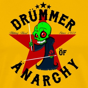 Insane Drummer - Drummer of Anarchy - sort - Herre premium T-shirt