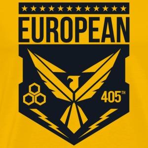 405th european logo black - Mannen Premium T-shirt