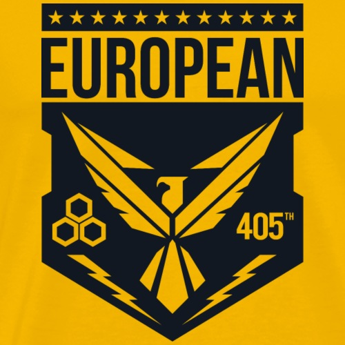 405th european logo black - Mannen Premium T-shirt