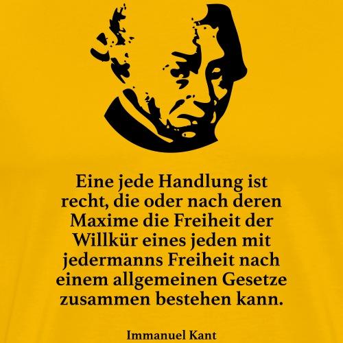 Kant: Eine jede Handlung ist recht, die oder nach - Männer Premium T-Shirt