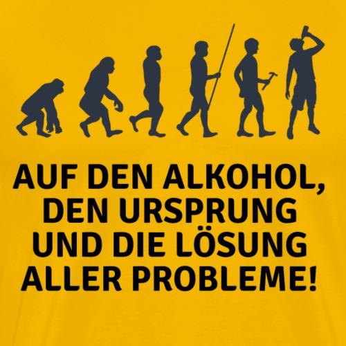 Lustiges Alkohol Design - Männer Premium T-Shirt