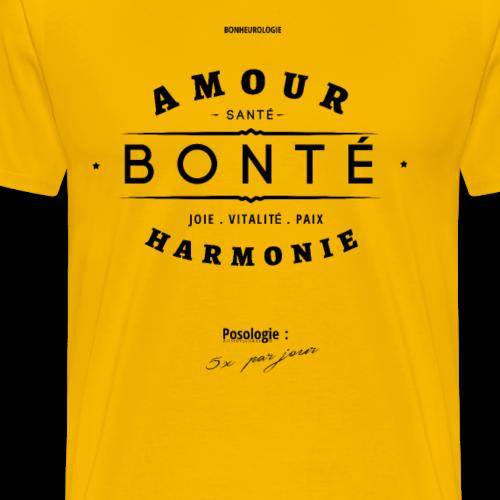 Aller Plus H4ut - Amour Bonté - Noir - T-shirt Premium Homme