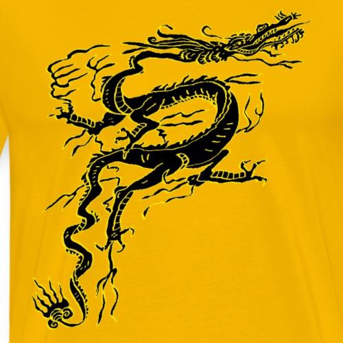 Dragon noir - T-shirt Premium Homme