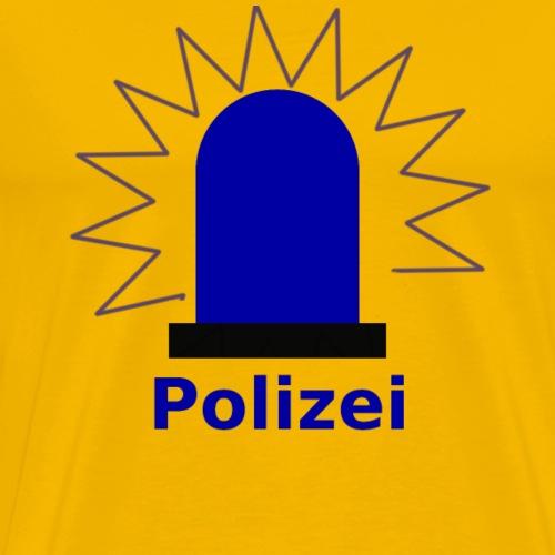Blaulicht Polizei - Männer Premium T-Shirt