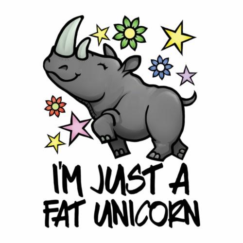 FAT UNICORN - Maglietta Premium da uomo