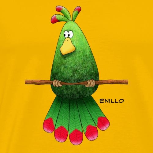 Enillo Vogel gruen klein - Männer Premium T-Shirt