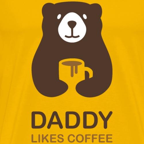Papa aime le café - T-shirt Premium Homme