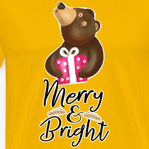Merry and Bright T-Shirt - Men's Premium T-Shirt