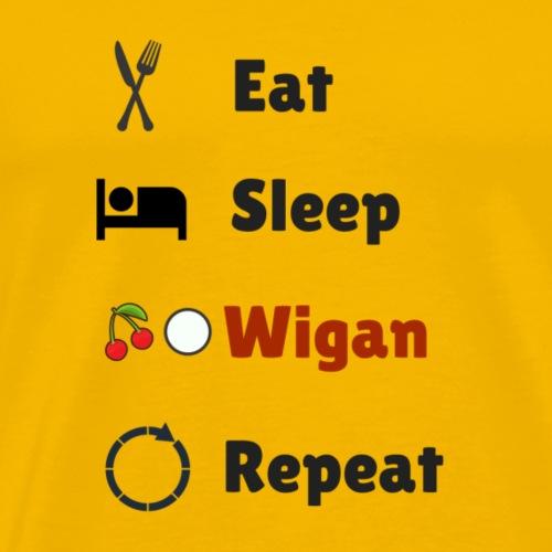 Eat Sleep Wigan Repeat - Men's Premium T-Shirt