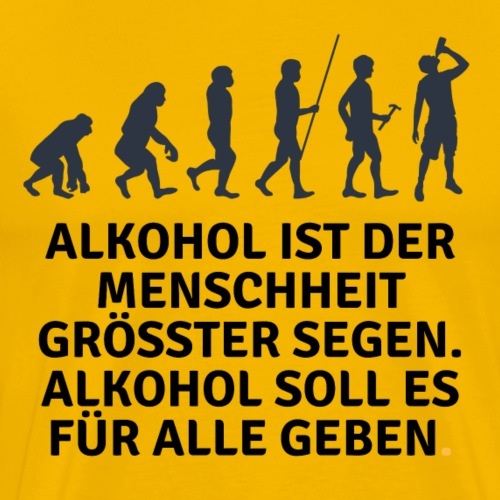 Party Design Alkohol - Männer Premium T-Shirt