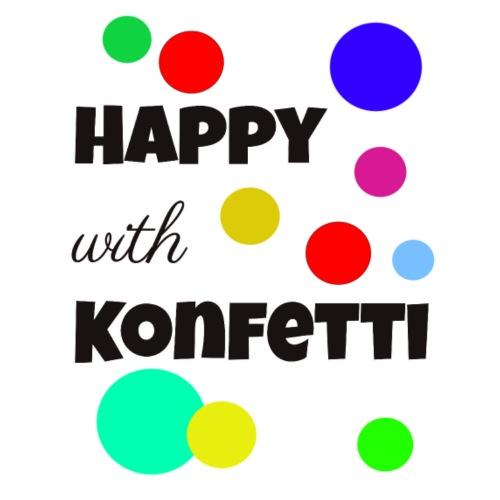 Happy with Konfettie1 - Männer Premium T-Shirt