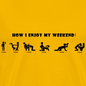 how_i_enjoy_my_weekend - Men's Premium T-Shirt