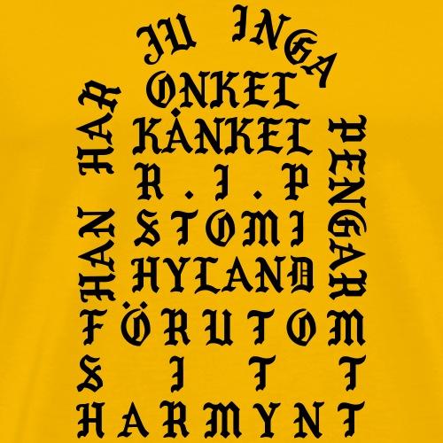 Onkel Kanye - Premium-T-shirt herr