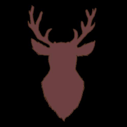 Hirschkopf (braun) - Männer Premium T-Shirt