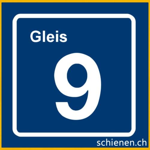 Schild «Gleis 9», blau - Männer Premium T-Shirt