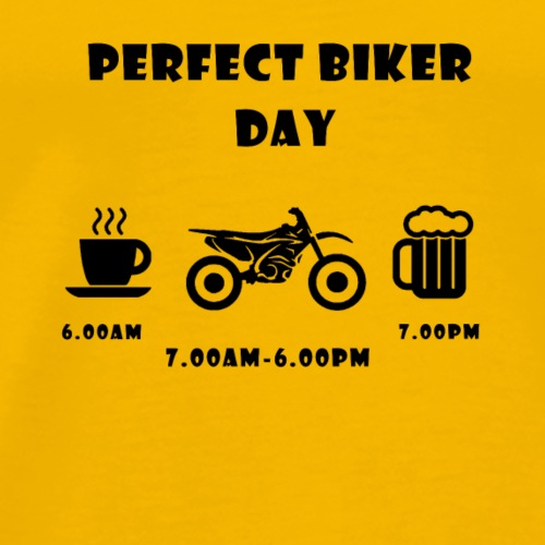 Perfect day cross black - Männer Premium T-Shirt