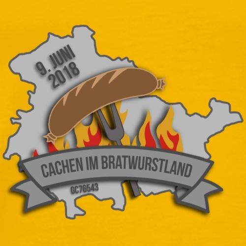 Cachen im Bratwurstland: Edition grau - Männer Premium T-Shirt