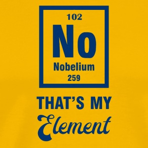 Periodic system: Nobelium - that's my element - Men's Premium T-Shirt