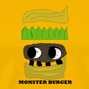 MONSTER BURGER - Premium-T-shirt herr