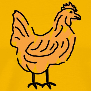 chicken66 - Premium-T-shirt herr