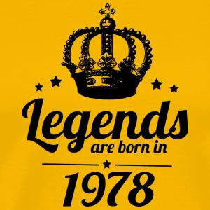 Legends 1978 - Herre premium T-shirt