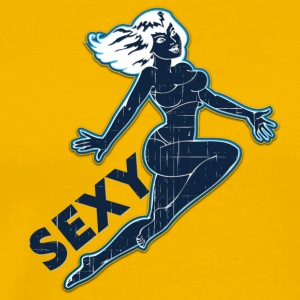 sexig hoppning pin up girl black wintage - Premium-T-shirt herr