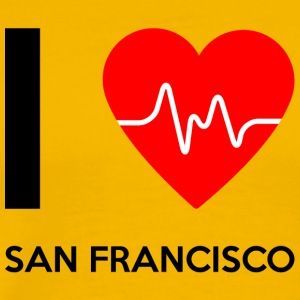 I Love San Francisco - jeg elsker San Francisco - Premium T-skjorte for menn