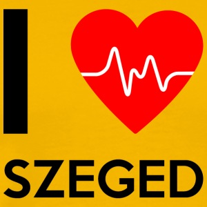 I Love Szeged - Jeg elsker Szeged - Premium T-skjorte for menn