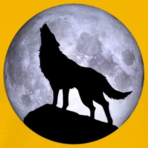 Wolf Full Moon Halloween night nightmare nightmare - Men's Premium T-Shirt