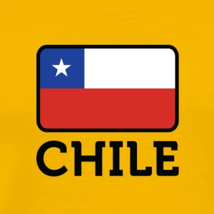 National Flag Of Chile - Herre premium T-shirt