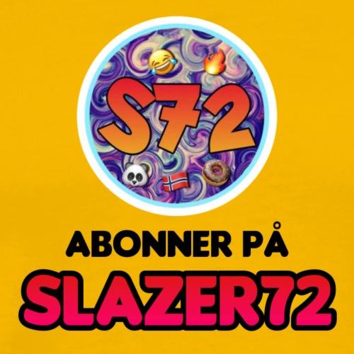 SLAZER72 ABONNER PÅ SLAZER72 LOGO - Premium T-skjorte for menn