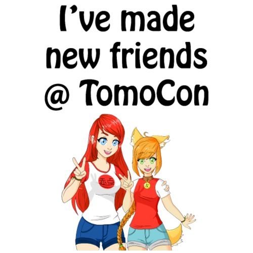 I've made new friends @ TomoCon - Mannen Premium T-shirt