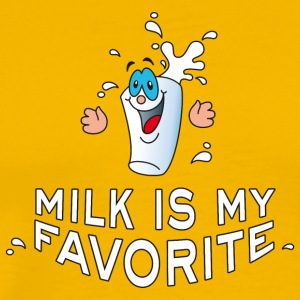 milk is my favorite dairy creamer Breakfast - Men's Premium T-Shirt