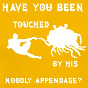 HAVE YOU BEEN TOUCHED BY HIS NOODLE APPENDAGE whit - Men's Premium T-Shirt