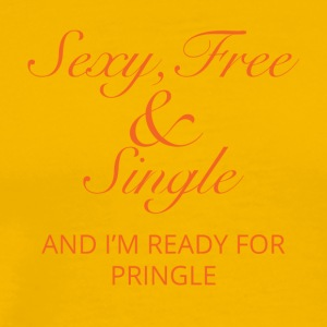 Single: Sexy, Free and Single. And i´m ready for - Männer Premium T-Shirt