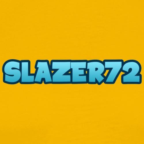 SLAZER72 BLÅ BOUNCE TEKST - Premium T-skjorte for menn